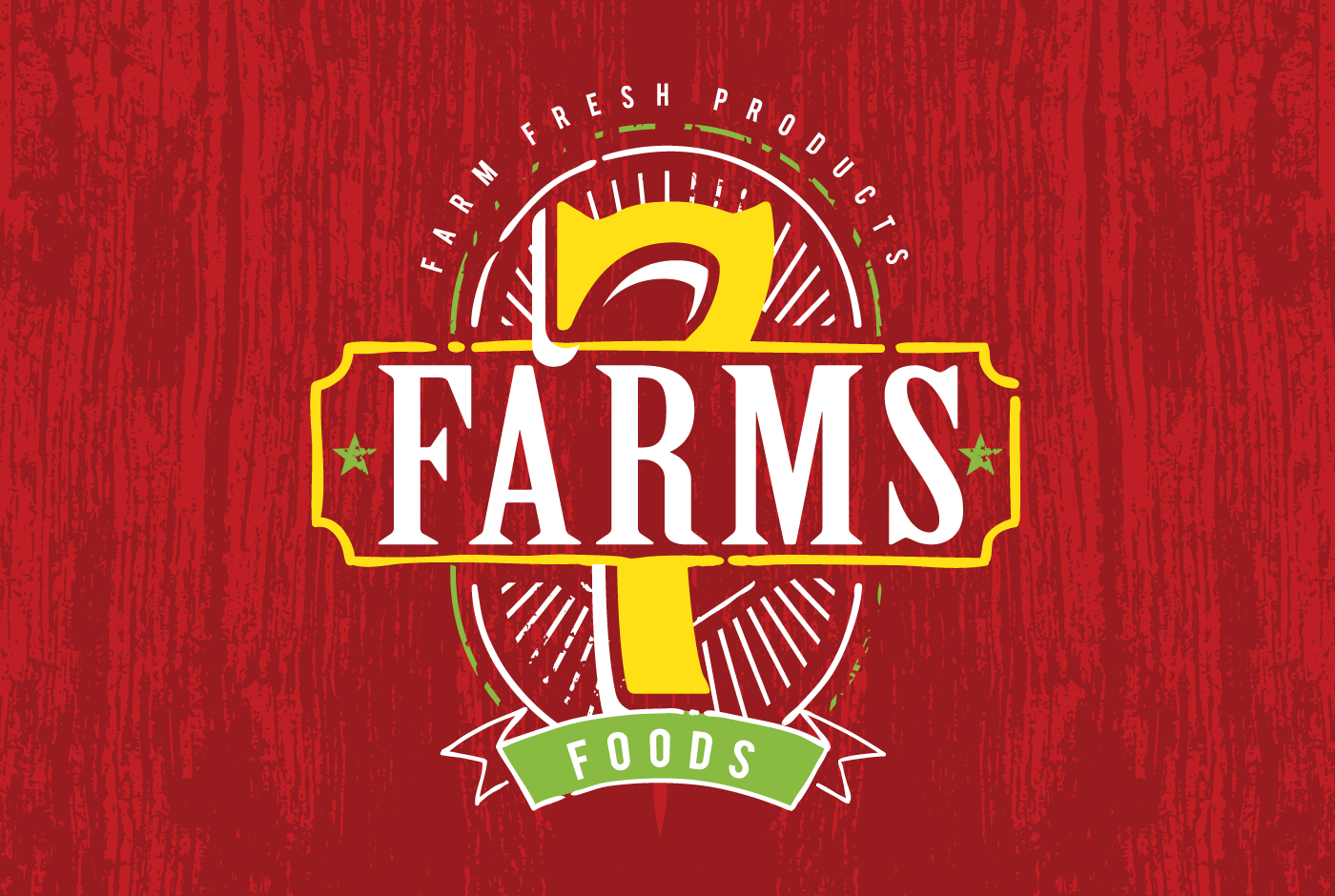 7 Farms Foods Logo Design